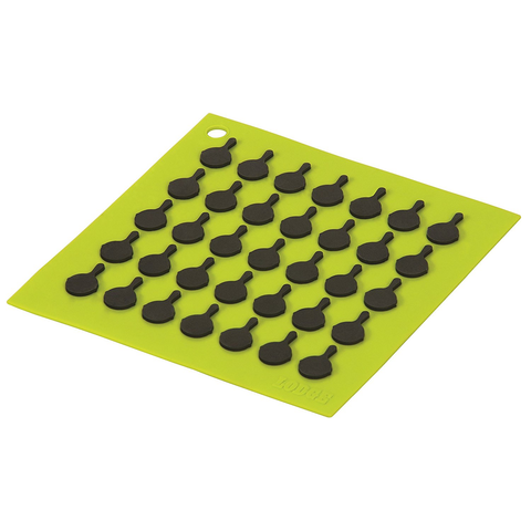 LODGE SILICONE TRIVETS, GREEN
