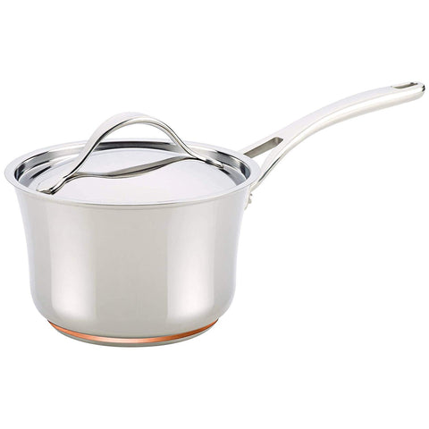 Anolon Nouvelle Copper Stainless Steel Saucepan with Lid
