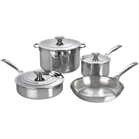 LE CREUSET 7-PIECE STAINLESS STEEL SET