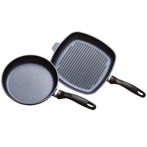 Swiss Diamond 2-Piece Fry and Grill Pan Set