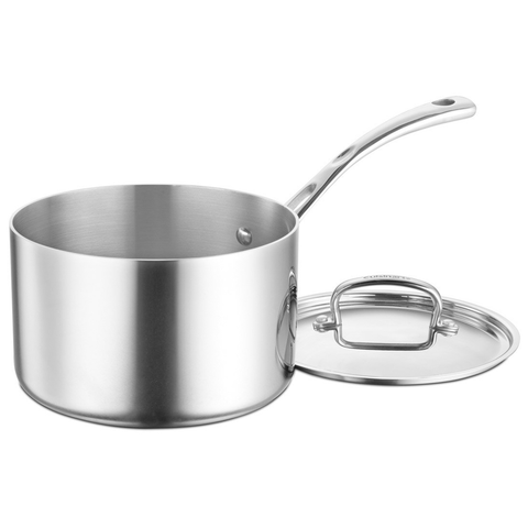 CUISINART FRENCH CLASSIC TRI-PLY STAINLESS 4-QUART SAUCEPOT WITH COVER