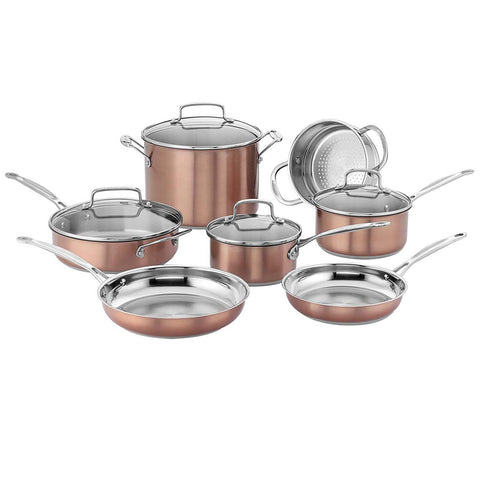 Cuisinart Chef's Classic™ Stainless Color Series 11-Piece Cookware Set