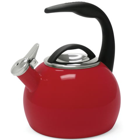 CHANTAL 2-QUART ENAMEL-ON-STEEL ANNIVERSARY TEAKETTLE - RED