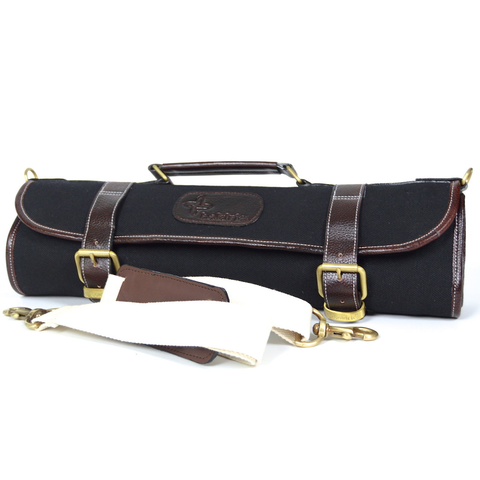BOLDRIC 9-POCKET ROLL KNIFE BAG - BLACK