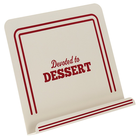 CAKE BOSS COOKBOOK STAND, ''DEVOTED TO DESSERT''
