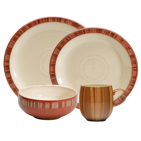 Denby Fire Stripes 4 pc Set