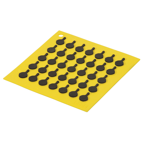 LODGE SILICONE TRIVETS, YELLOW