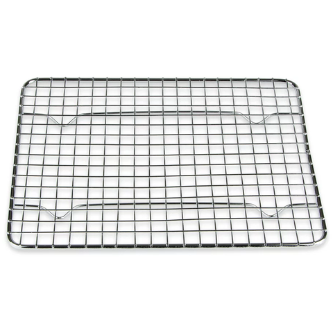 BROWNE 8'' X 10'' RECTANGULAR NICKEL-PLATED FOOTED PAN GRATE