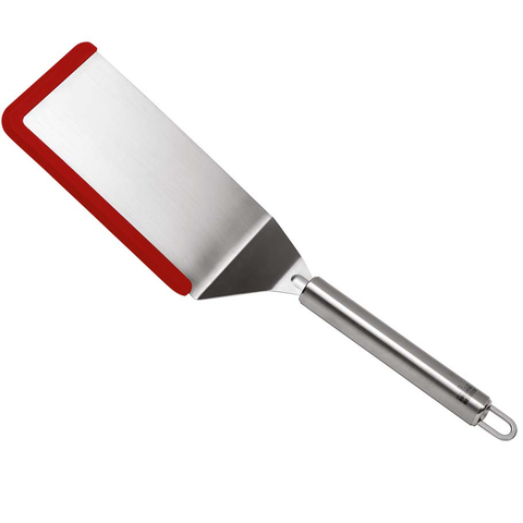 KUHN RIKON SOFTEDGE™ 13.5'' FLEXI TURNER, STAINLESS STEEL - RED