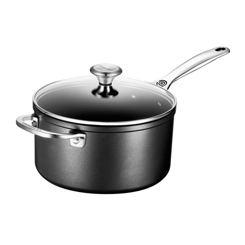 LE CREUSET 4-QUART TOUGHENED NONSTICK SAUCEPAN WITH LID