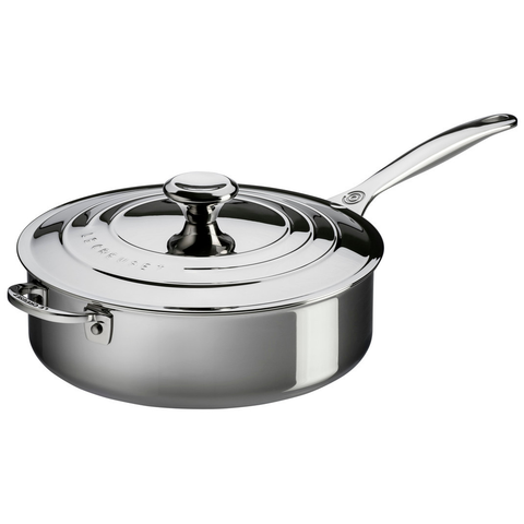 LE CREUSET 4.5-QUART STAINLESS STEEL SAUTE PAN