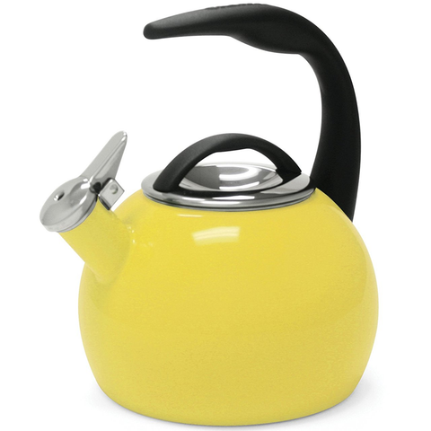 CHANTAL 2-QUART ENAMEL-ON-STEEL ANNIVERSARY TEAKETTLE - YELLOW
