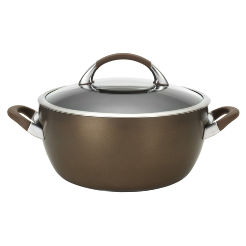 CIRCULON 5.5-QUART COVERED CASSEROLE, BROWN