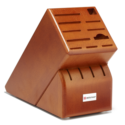 WUSTHOF 15-SLOT KNIFE BLOCK - CHERRY