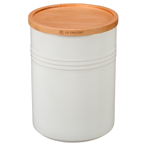 LE CREUSET 4'' LARGE STORAGE CANISTER - WHITE