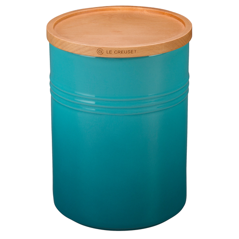 LE CREUSET 4'' LARGE STORAGE CANISTER - CARIBBEAN