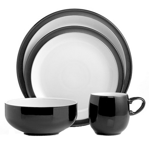 Denby 4-Piece Place Setting, Jet Black