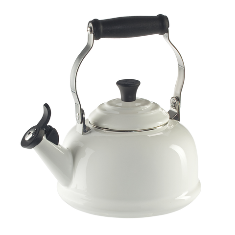 LE CREUSET 1.8-QUART CLASSIC WHISTLING KETTLE - WHITE