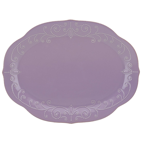 LENOX FRENCH PERLE VIOLET OVAL PLATTER