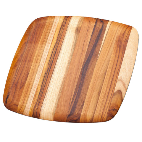 Teakhaus Cutting Board Square Serving Platter With Rounded Edges