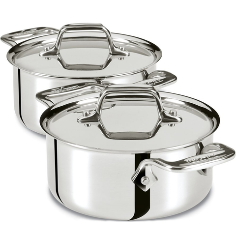 ALL-CLAD STAINLESS STEEL 0.5-QUART COCOTTES, SET OF 2