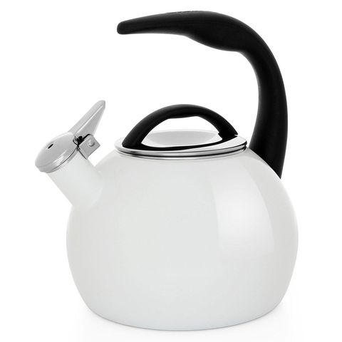 CHANTAL 2-QUART ENAMEL-ON-STEEL ANNIVERSARY TEAKETTLE - WHITE