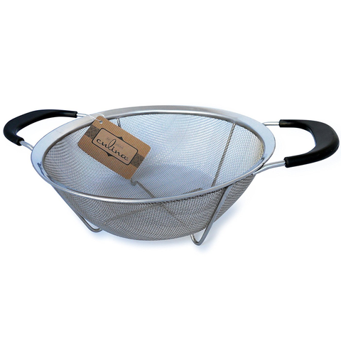 CULINA 9'' MESH STRAINER BASKET WITH HANDLES