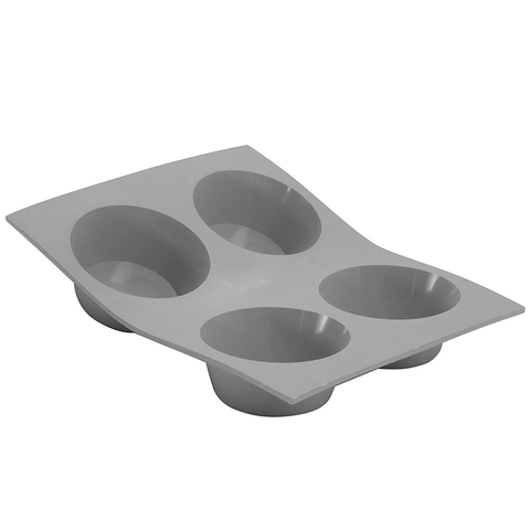 DE BUYER ELASTOMOULE 4-MUFFINS SILICONE MOLD