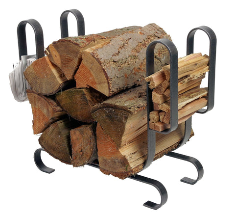 Enclume Modern Log Rack, Large, Hammered Steel