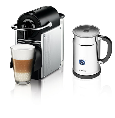 Nespresso Pixie Espresso Maker With Aeroccino Plus Milk Frother, Aluminum