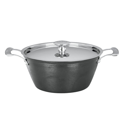 Mario Batali Pre-Seasoned Light Cast Iron 4-Quart Round Casserole by Dansk