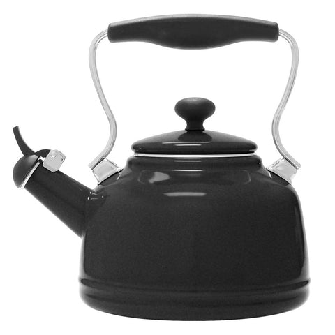 Chantal Enamel-on-Steel Vintage 1.7-Quart Teakettle - Matte Black