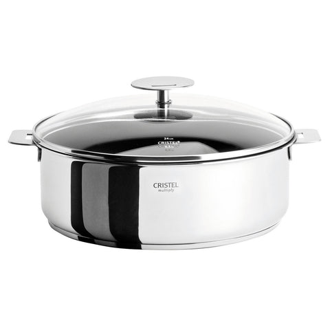 CRISTEL CASTELINE DETACHABLE HANDLE 4-QUART SAUTE PAN EXCELISS NON-STICK COATING