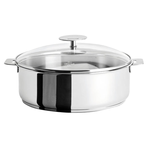 CRISTEL CASTELINE DETACHABLE HANDLE 5-QUART SAUTE PAN WITH DOMED GLASS LID