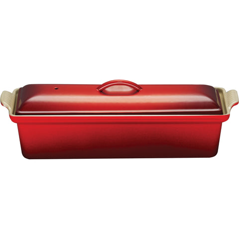 Le Creuset Enameled Cast-Iron 4-by-12-2/3-Inch Pate Terrine, Cerise