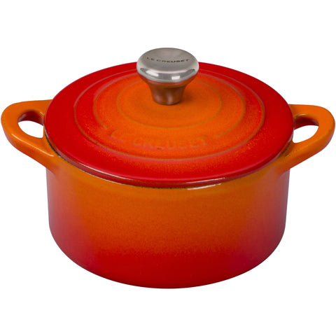 Le Creuset Enameled Cast Iron Cocotte with Stainless Knob, 1/3-Quart, Flame