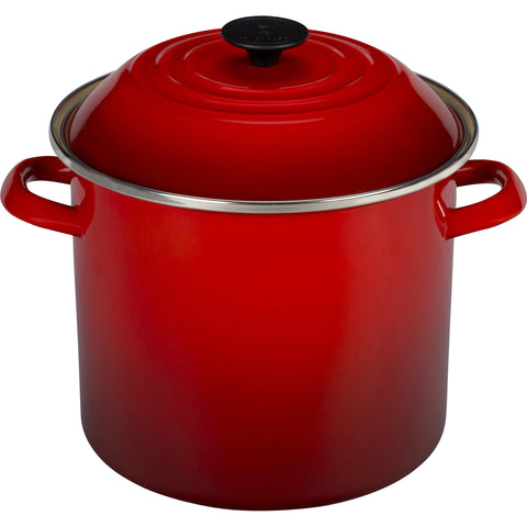 Le Creuset Enamel-on-Steel 20-Quart Covered Stockpot, Cerise  Red