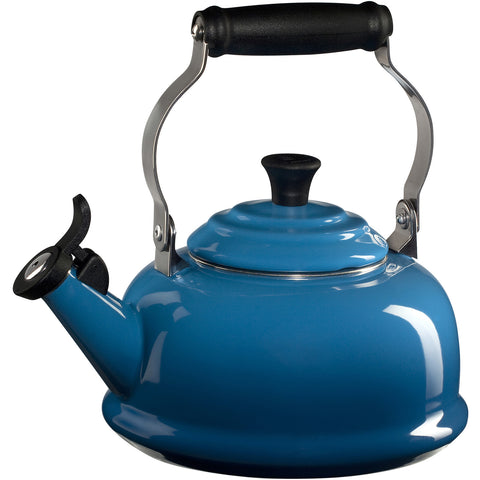 Le Creuset Enamel-on-Steel Whistling 1-4/5-Quart Teakettle, Marseille Blue