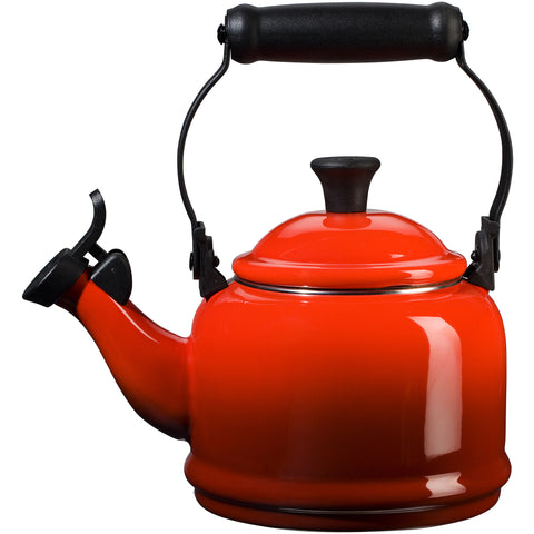 Le Creuset Enamel-on-Steel Demi 1-1/4-Quart  Teakettle, Cerise