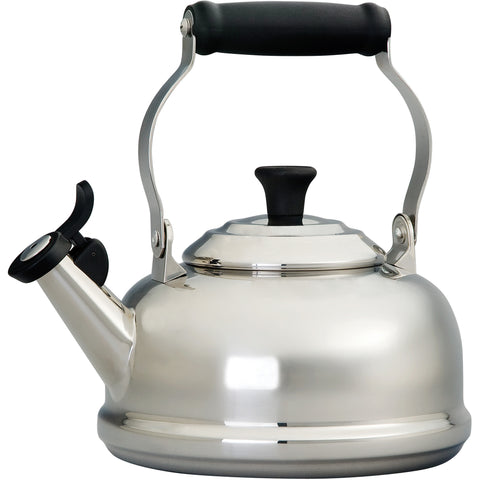 LE CREUSET 1.8-QUART STAINLESS STEEL CLASSIC WHISTLING KETTLE