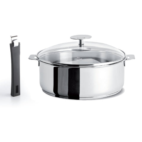 CRISTEL MUTINE DETACHABLE HANDLE 4.5-QUART  SAUTE-PAN EXCELISS NONSTICK COATING