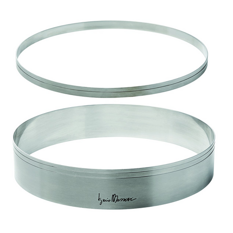 MASSARI STAINLESS STEEL RINGS SET 9.4'' & 9.1'' DIAMETER