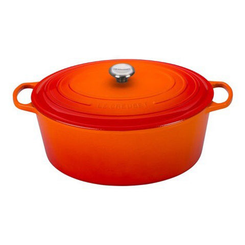 Le Creuset 15.5-Quart Oval Dutch Oven - Flame