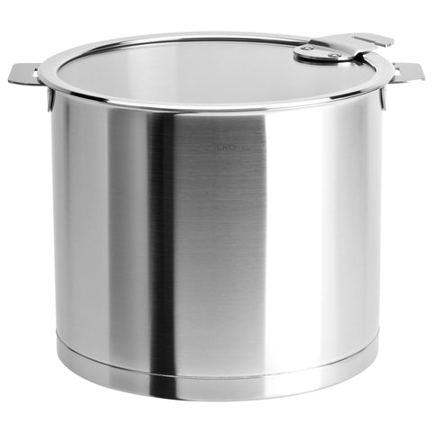 CRISTEL STRATE DETACHABLE HANDLE 7.5-QUART STOCKPOT WITH FLAT GLASS LID
