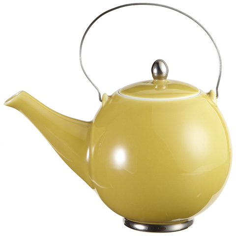 YEDI HOUSEWARE JAPANESE PORCELAIN TEAPOT - YELLOW