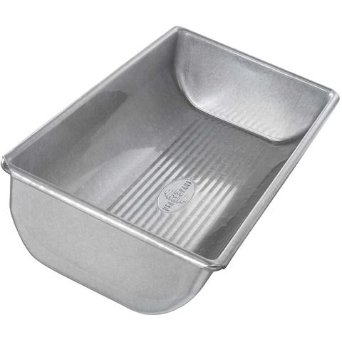 USA Pans 12 x 5 1/2 x 2 1/4 Inch Hearth Bread Pan, Aluminized Steel with Americoat