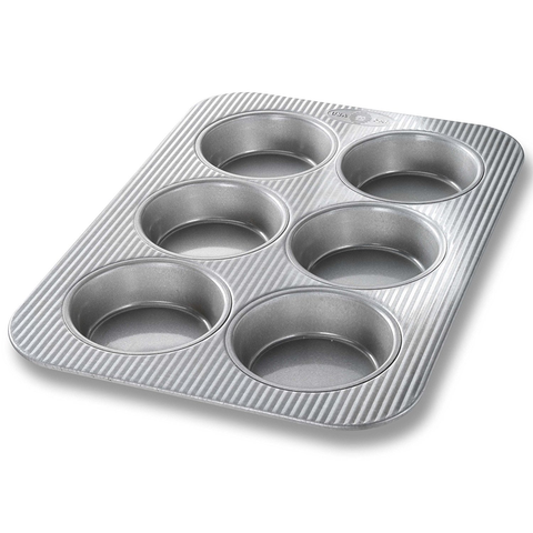 USA Pans Mini Round Cake Panel Pan, 6 Wells