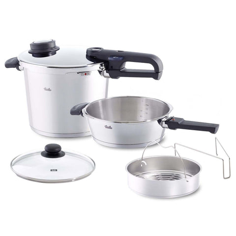 FISSLER 6-PIECE 6.4-QUART AND 2.7-QUART VITAVIT PREMIUM PRESSURE COOKER SET