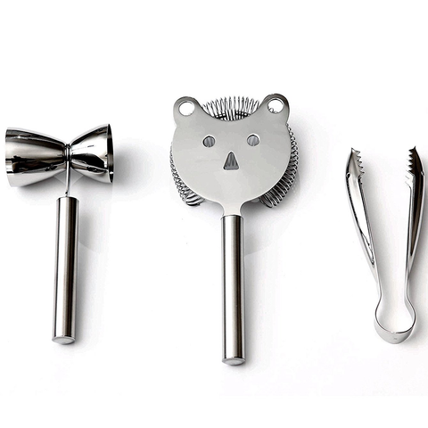 WMF FACES STAINLESS STEEL 3-PIECE BAR SET