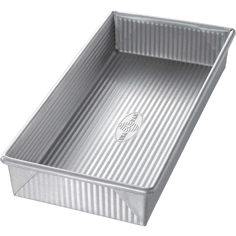 USA Pans 12 x 5.5 x 2 Inch Biscotti Pan, Aluminized Steel with Americoat